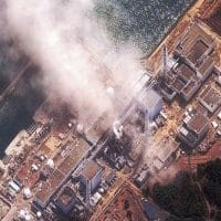 Fukushima Daiichi power plant, three minutes after an explosion on March 14, 2011