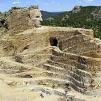 Aerial image of the Crazy Horse Native American Monument in the Black Hills of South Dakota, billed as the world's largest sculpture June 15, 2011. | Photo- Reuters