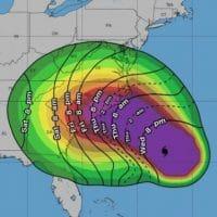 Hurricane thermal image.