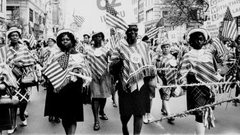 | International Ladies Garment Workers Union Local 62 marches in a Labor Day parade | Kheel Center | Flickr | MR Online