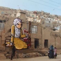 Street painting by Shamisa Hassani