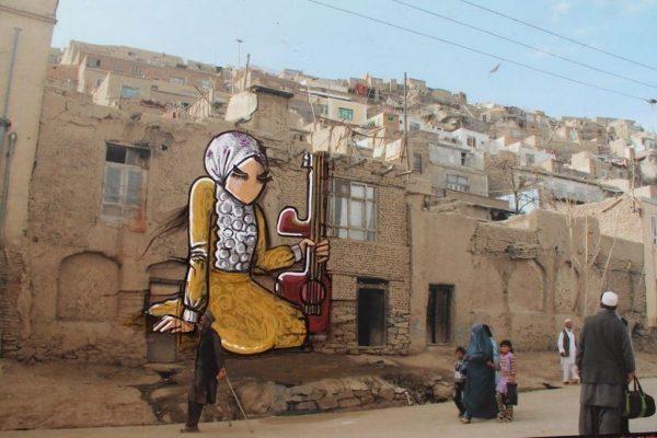 Street painting by Shamisa Hassani