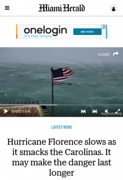 The Miami Herald never mentioned global warming in 21 stories on Hurricane Florence, Public Citizen found–despite being based in one of the U.S. cities most vulnerable to climate change.