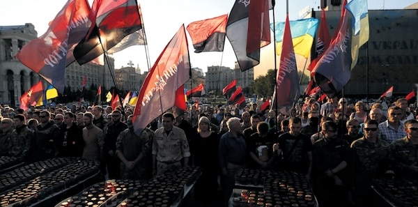 Ukraine's Right Sector rally in Kiev in 2015