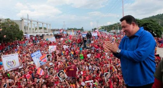 A Chavez rally in Merida state. (teleSUR)