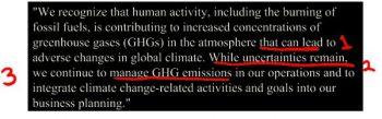 Climate change position. (Photo Credit: UOCS)