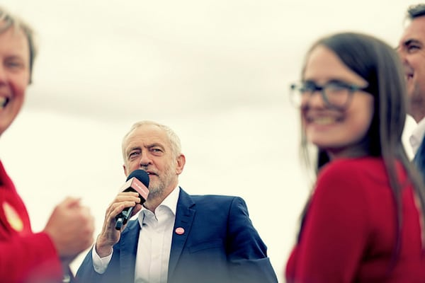 Jeremy Corbyn on the campaign trail in West Kirby. Photo by Andy Miah (Flickr)