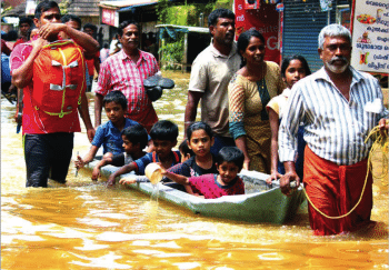 Rescue operations at North Paravur, Ernakulam district