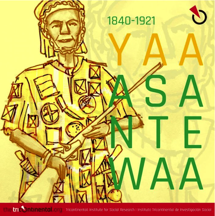The image below is of Yaa Asantewaa (1840-1921), the anti-imperialist queen mother in the Ashanti Empire (modern-day Ghana) who died 17 October 1921.