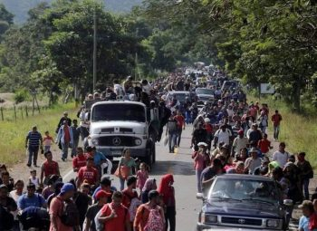 The caravan being met with outpouoring of solidarity (Photo Credit- Peoples Dispatch)