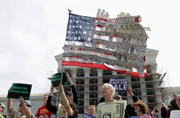 5 Years Later, Citizens United Has Remade U.S. Politics | Politics ... US News & World Report Demonstrators gather outside the Supreme Court in Washington, Tuesday, Oct. 8, 2013