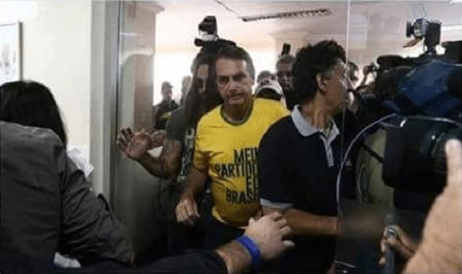 Bolsonaro walking out of hospital (Photo Credit- RP)