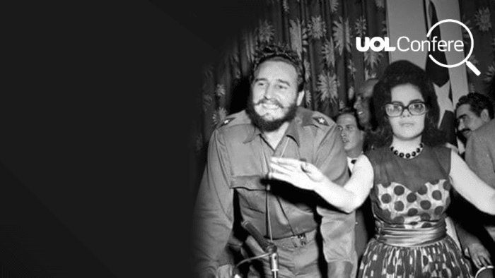 The original photo- Fidel Castro visits New York. Castro & Dr. Grayson Kirk, pres. of Columbia University. (Photo By- John Duprey:NY Daily News via Getty Images)(F)