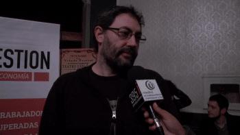 Andrés Ruggeri being interviewed