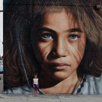 """Graffiti is the voice of protest and popular anger that from the ghettos of the big metropolis demand being heard,"" Jorit told teleSUR English. Photo:Jorit"