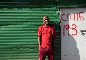 29 May 2018: Abahlali baseMjondolo, also known as AbM or the red shirts, is a shack- dwellers' movement in South Africa well known for its campaigning against evictions and for public housing. Cato Manor has seen many territory battles between the shack dwellers and the Police after The eThekwini municipality started with its violent and unlawful evictions in the last two years. Mlungisi Mokoena was shot in the legs during one of these clashes. Madelene Cronjé / New Frame