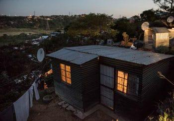 29 May 2018: Dusk at the Sisonke informal settlement in Lamontville, south of Durban. Madelene Cronjé / New Frame
