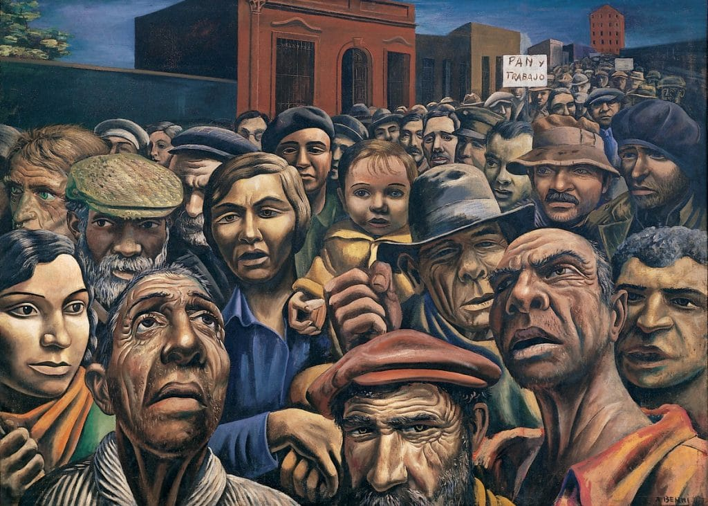 Argentinian artist Antonio Berni (1905-1981) called Manifestación.
