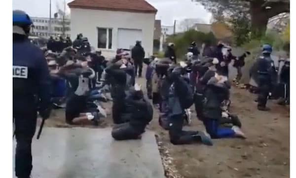 Cops in France brutalize high school students who join Yellow Vest protests