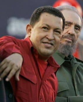 Venezuela's President Hugo Chavez and Cuban President Fidel Castro in July 2006