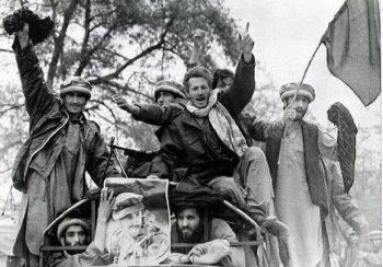 Jubilant mujahideens drive into Kabul in 1980