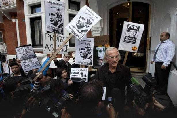 John Pilger, after visiting Assange in the Ecuadorian embassy
