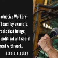 Sergio Requena of the Productive Workers' Army. (Ejército Productivo Obrero)