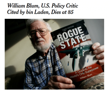 The New York Times (12:11:18) takes posthumous potshots at a historian who documented the history of U.S. intervention that the Times often leaves out.