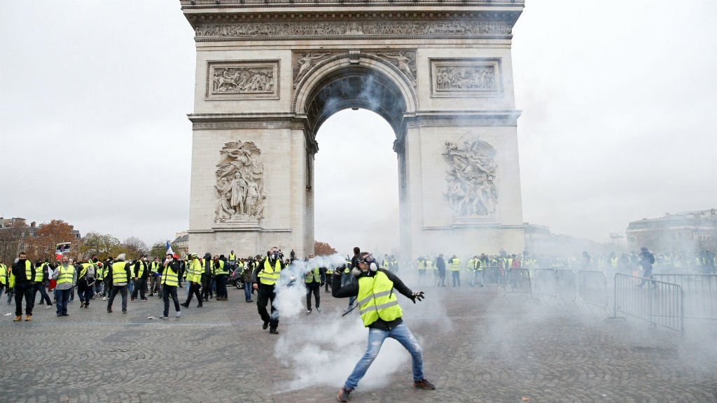 The tear gas in Paris.