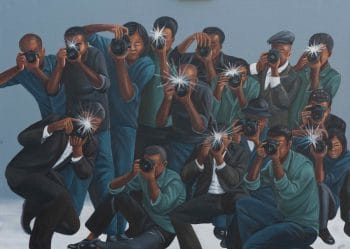 Painting above is by the DRC's Zemba Luzamba. It is called Paparazzi. It is a little gesture here for the lack of media attention on the DRC, the epicentre of capitalism's destruction of the planet.