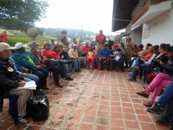 A communal council assembly in Amazonas state, expression of popular power and self‐government. (Archive)