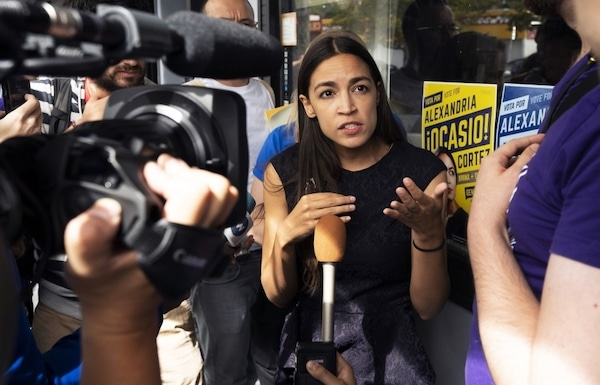 Alexandria Ocasio-Cortez pictured September 22, 2018 in the Bronx borough of New York. (DON EMMERT:AFP:Getty Images)