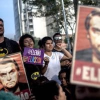 Protestors Rally Against Brazilian Presidential Candidate Jair Bolsonaro