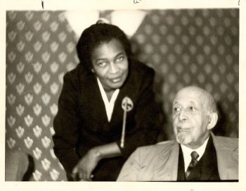 Claudia Jones with W. E. B. Du Bois, London, 1960.