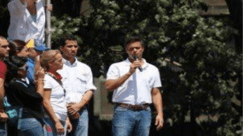 | Guaido alongside Lopez at the fateful February 12 2014 rally | MR Online