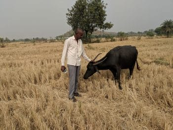 A farmer from Telangana, who is a TRS activist