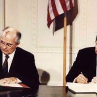 INF Treaty signing.