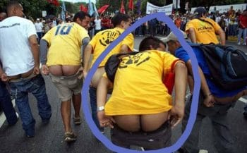 Is this the ass that Trump wants to install in Venezuela's seat of power?