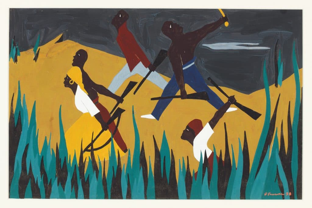 Jacob Lawrence, Toussaint L'Ouverture Serigraph Series, 1987.