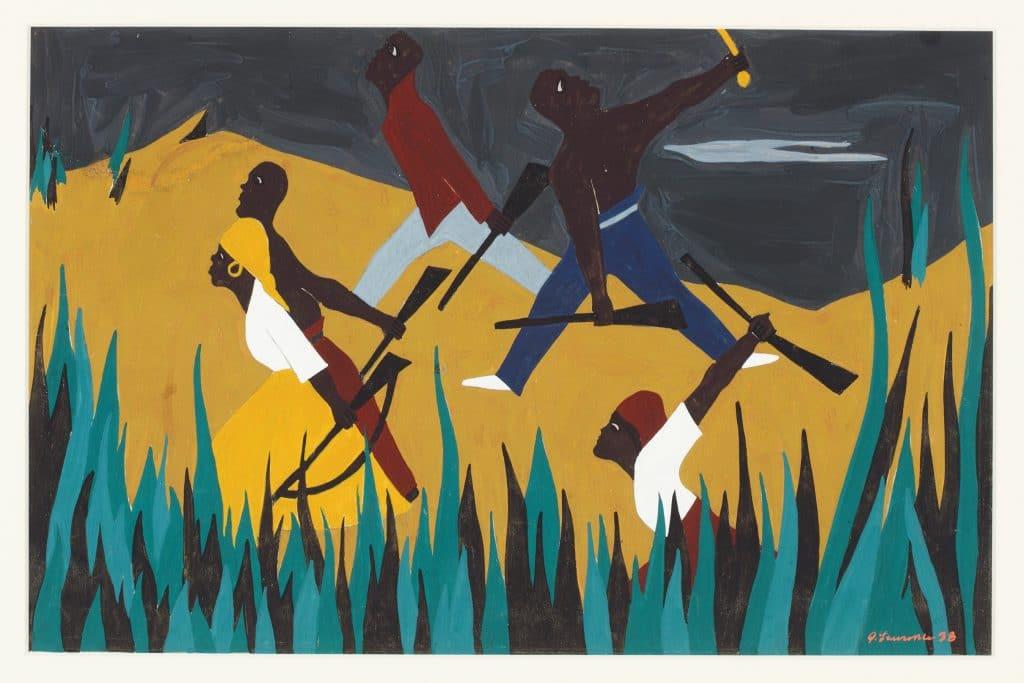 Jacob Lawrence, Toussaint L'Ouverture Serigraph Series, 1987.