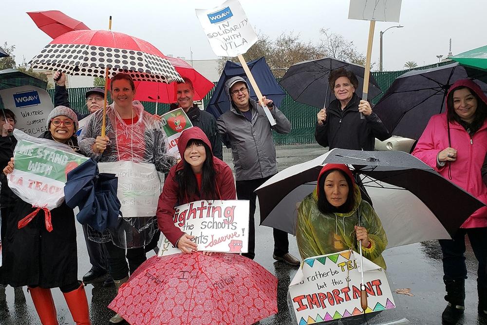 | Writers Guild West members join striking teachers inLos Angeles | MR Online