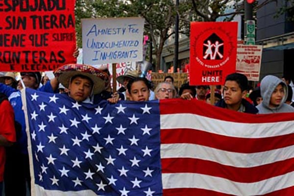 Thousands March Demanding Legal Status for Immigrants (Photo Credit: David Bacon)