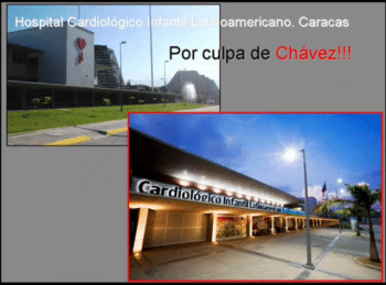 """Latin American Juvenile Cardiac Hospital, Caracas- It's Chávez's Fault!"" (YouTube, 3:31:11)"
