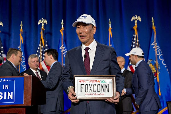 Governor Scott Walker Attends Official Deal Signing For New Foxconn Factory