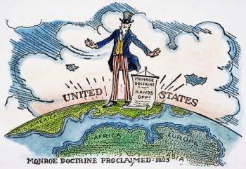 Monroe Doctrine cartoon. (Archive)