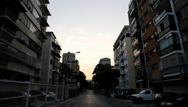 A general view of a street during a blackout in Caracas, Venezuela March 8, 2019. | Photo- REUTERS