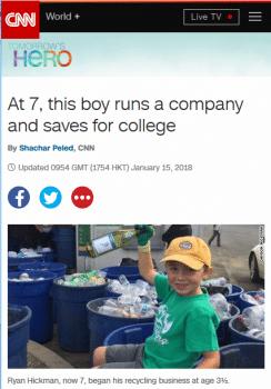 CNN: Recycling Boy