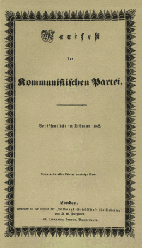 First edition of the Communist Manifesto in German. Credit- Wikipedia: (CC BY-SA 3.0)