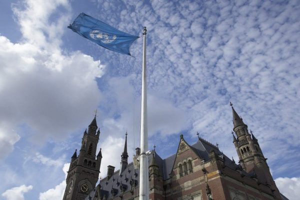 The Peace Palace, seat of the International Court of Justice, at The Hague, Netherlands