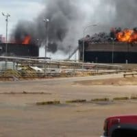 Two diluent tanks at Petro San Felix (Anzoategui) were subject to sabotage